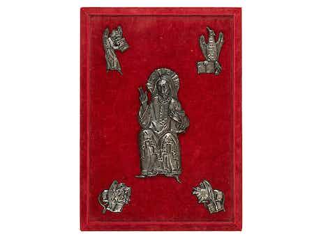 Romanische Appliken einer Bibel