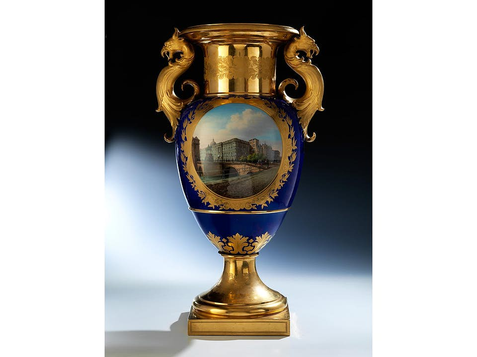 KPM-Vase mit Berliner Stadtschloss