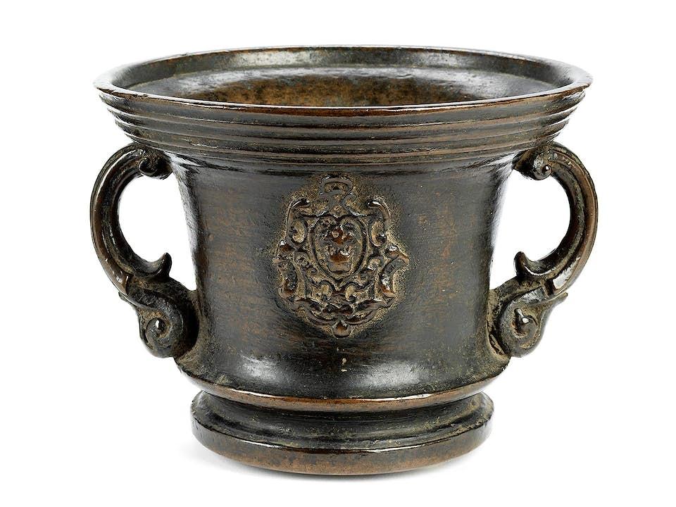 Großer italienischer Bronzemörser