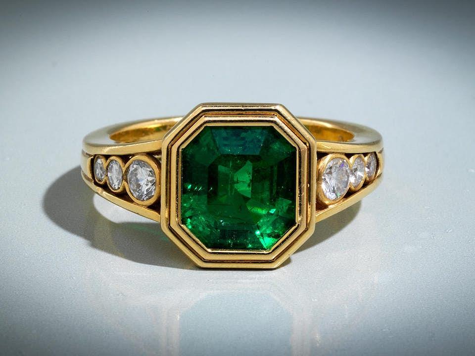 Smaragd-Brillantring von Wolfers