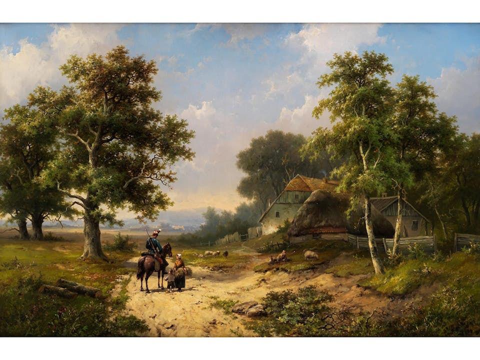 Hendrik Pieter Koekkoek, 1843 Hilversum – nach 1890 England