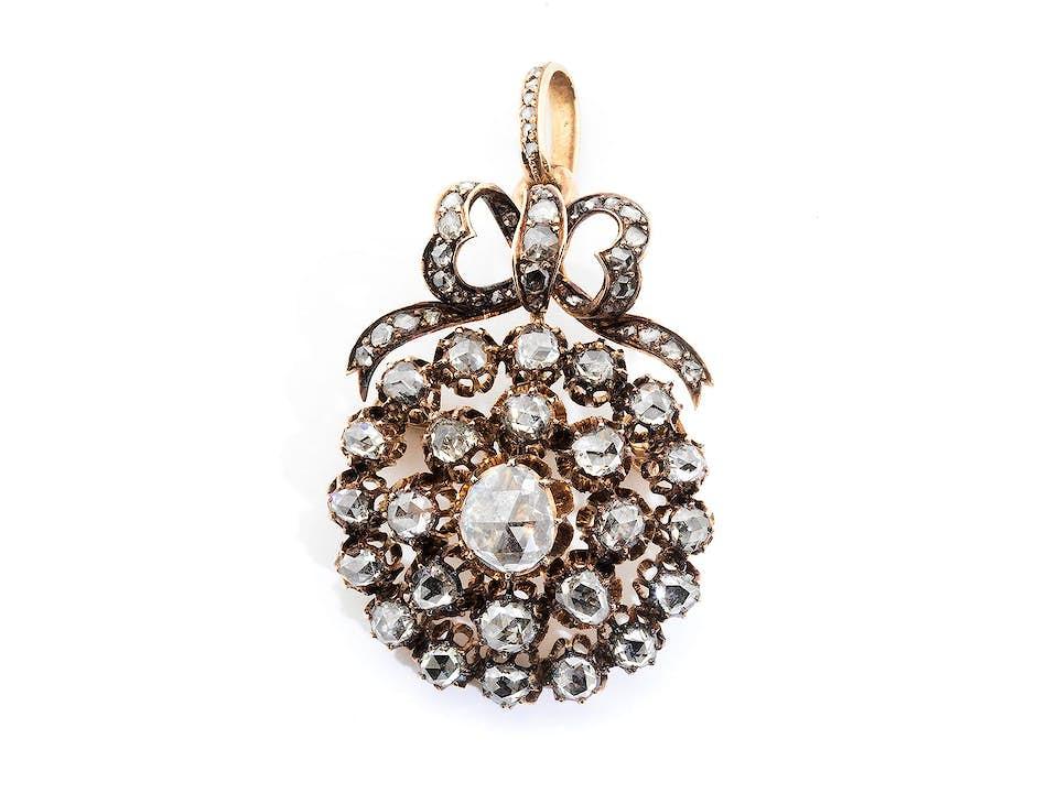 Antiker Diamant-Broschanhänger