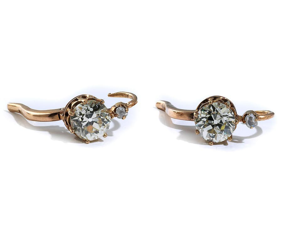 Antike Diamant-Ohrhänger