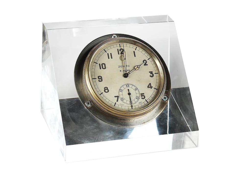 ZENITH Bordchronometer mit 8-Tage-Werk und Gangreservenanzeige