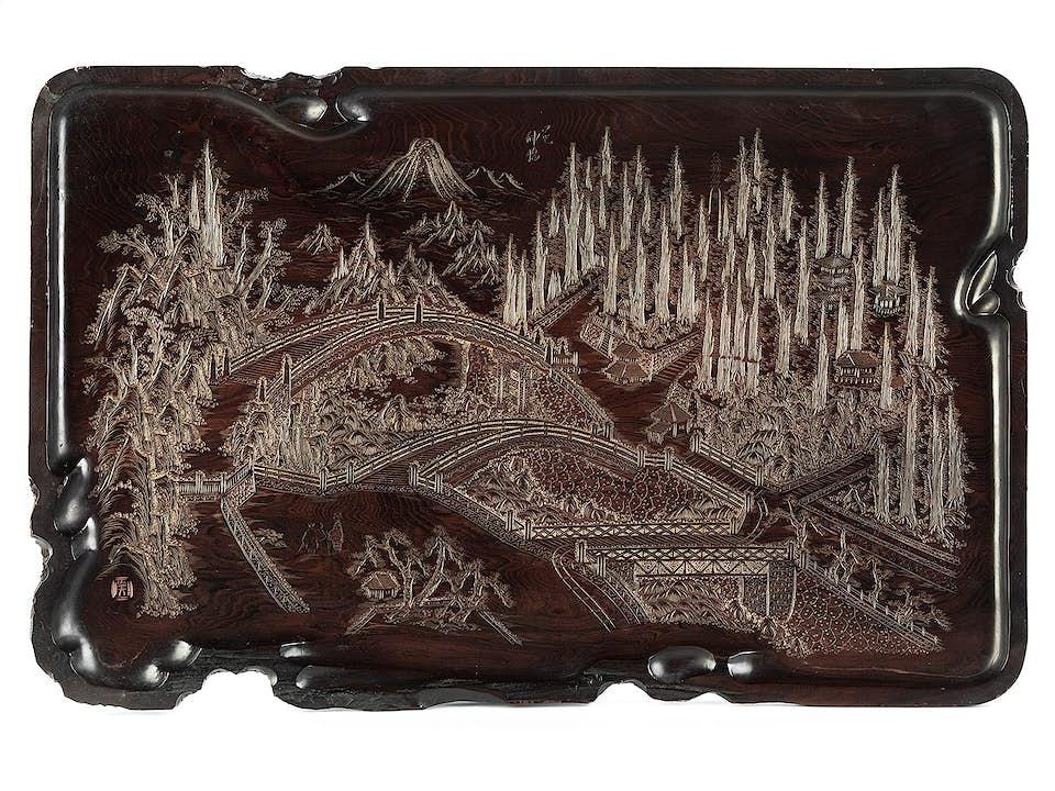 Chinesisches Holztablett