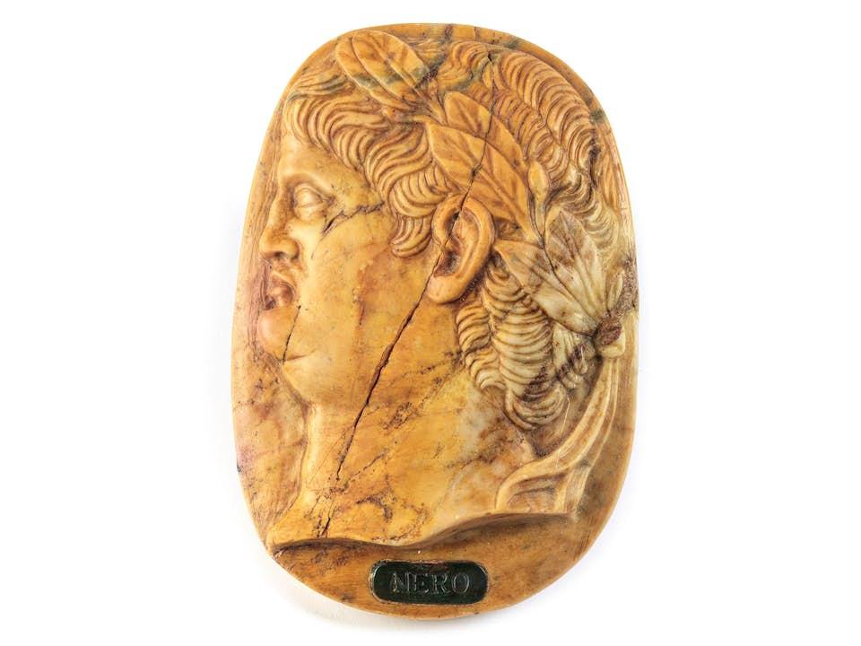 Marmorplakette Kaiser Nero
