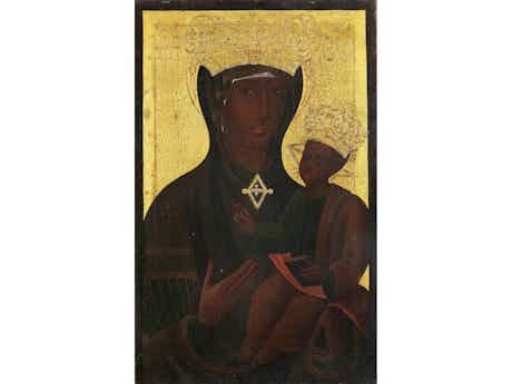 Römische Ikone als Andachtsbild, im 18. Jahrhundert wiederholt