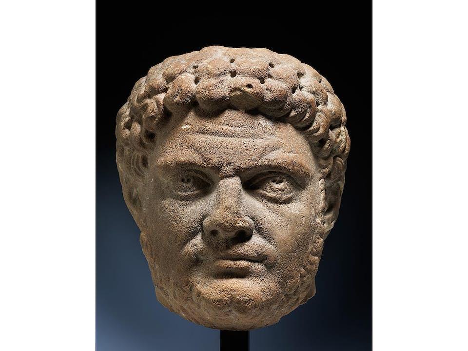 Marmorkopf des römischen Kaisers Caracalla (188 n. Chr.– 217 n. Chr.)