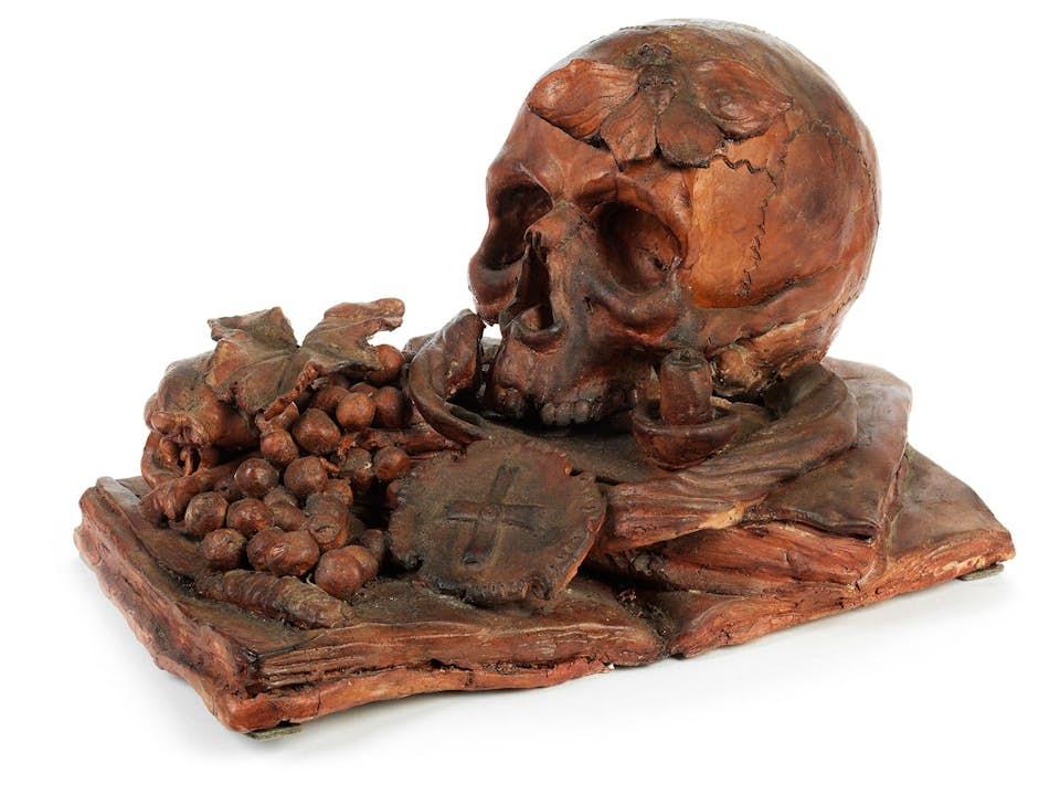 Memento mori-Terrakottabildwerk