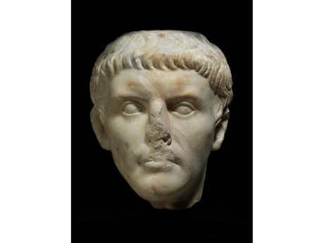 Bedeutender Marmorkopf des römischen Kaisers Claudius (10 v. Chr. - 54 n. Chr.)