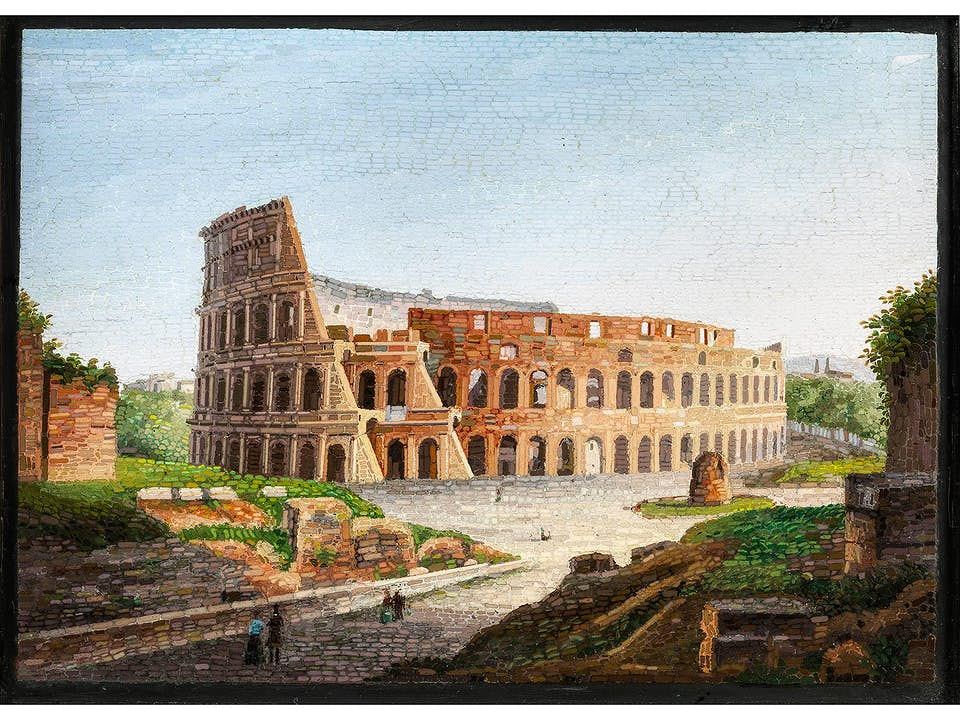 Mikromosaik mit Darstellung des Kolosseums