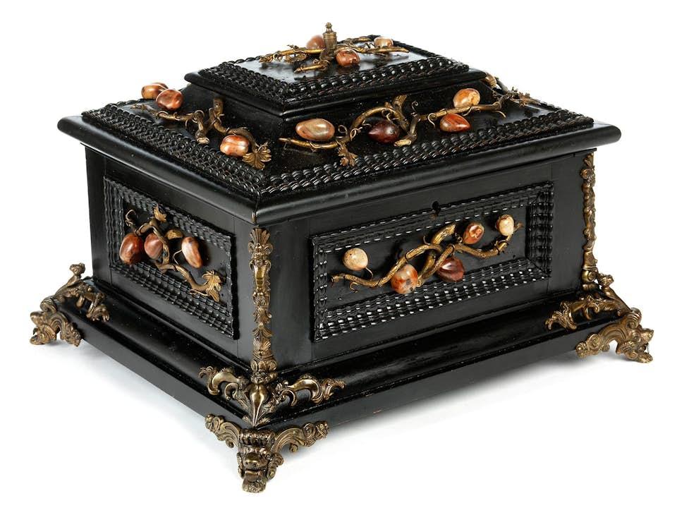 Kabinettkästchen mit Pietra dura-Einlagen