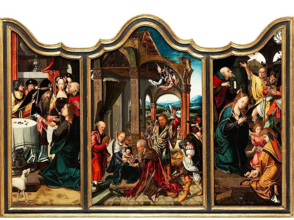 Jan van Dornicke (Master of 1518) in Zusammenarbeit mit Pieter Coecke van Aelst d. Ä. (1502/07–1550), zug.