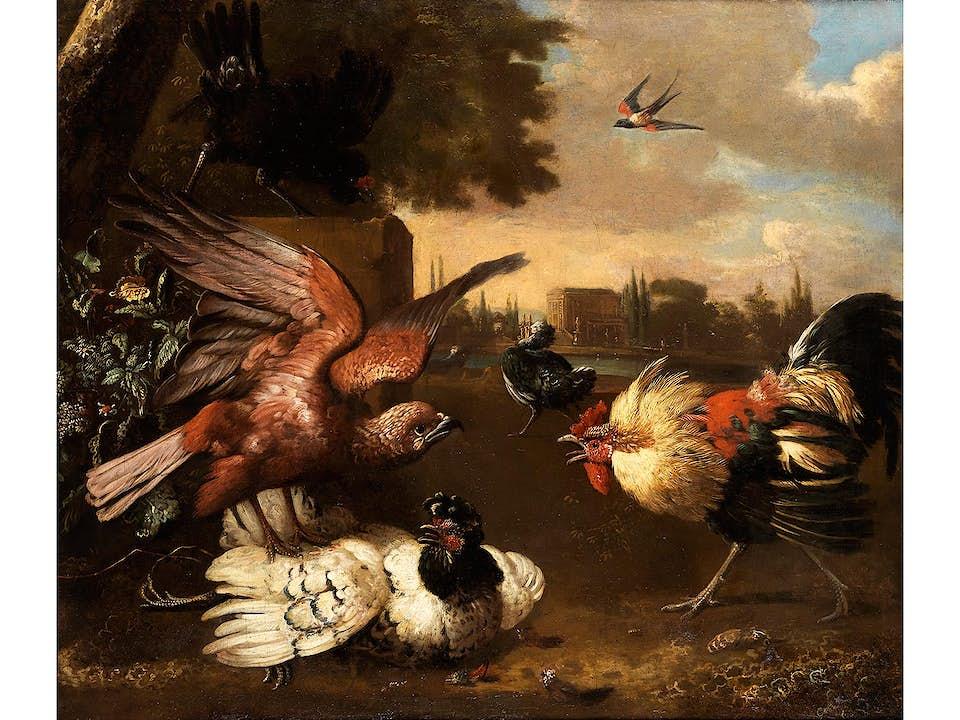 Melchior de Hondecoeter, 1636 Utrecht – 1695 Amsterdam, zug.