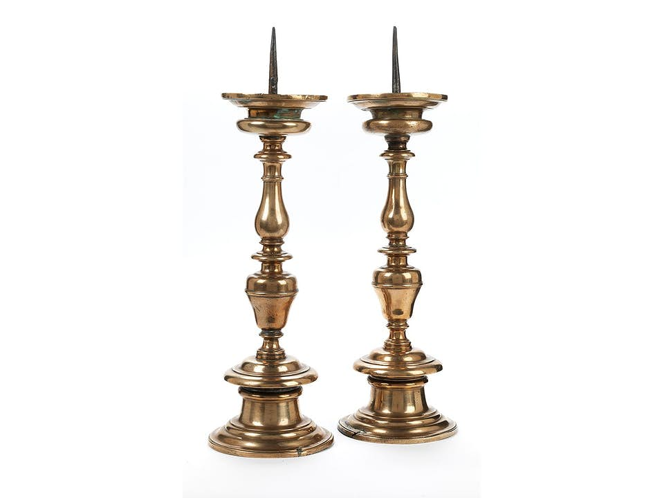 Paar barocke Messingleuchter