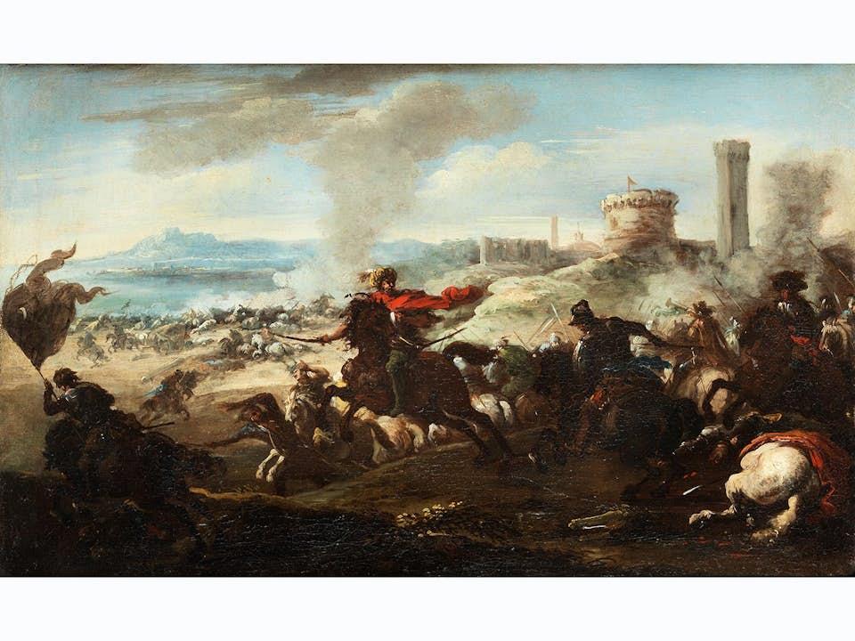 "Jacques Courtois, genannt ""Borgognone"", 1621 Saint-Hippolyte – 1676 Rom, zug."