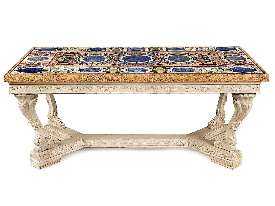 Römischer Pietra dura-Tisch