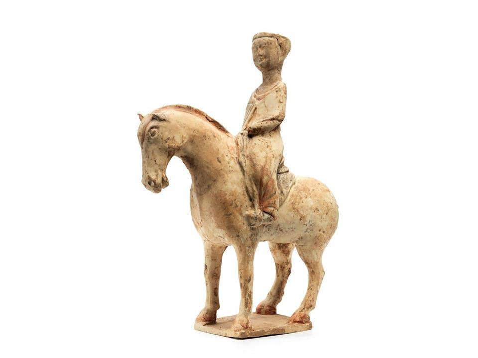 Tang-Pferd mit Reiterin