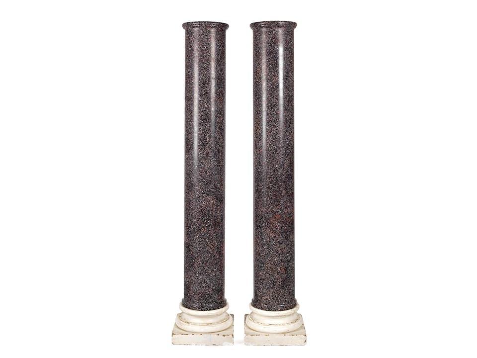 Paar Porphyrsäulen