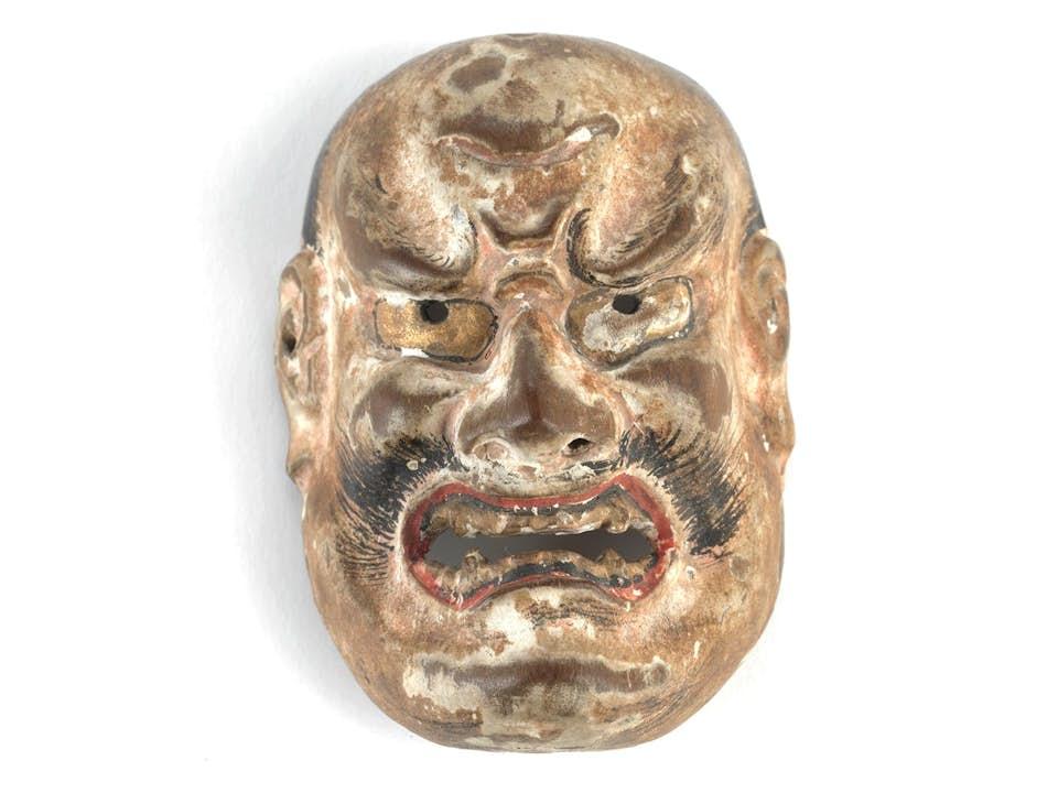 Feine Miniatur-Nô Maske