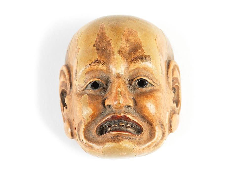 Japanische Miniatur-Nô Maske