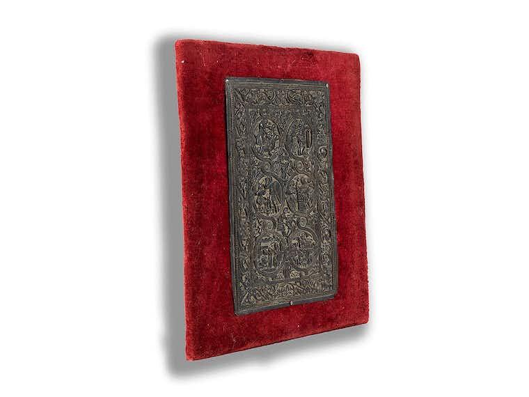 Kupferreliefplatte In Art Eines Frühmittelalterlichen
