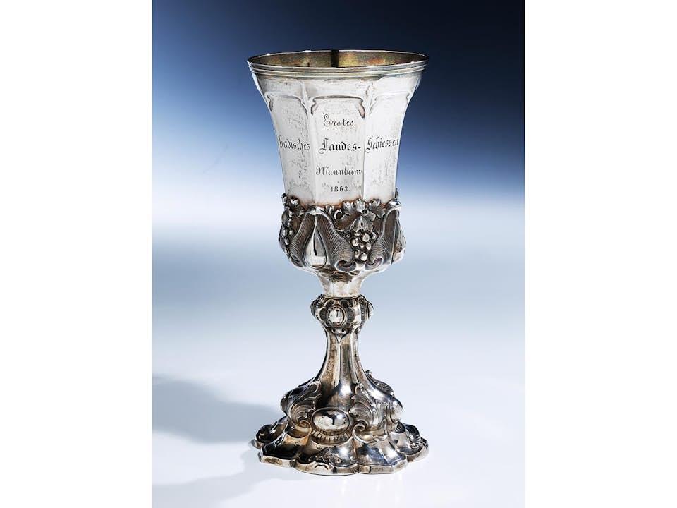 Silberpokal anläßlich des Besuches des Kronprinzen Friedrich Wilhelm von Preußen in Eberbach