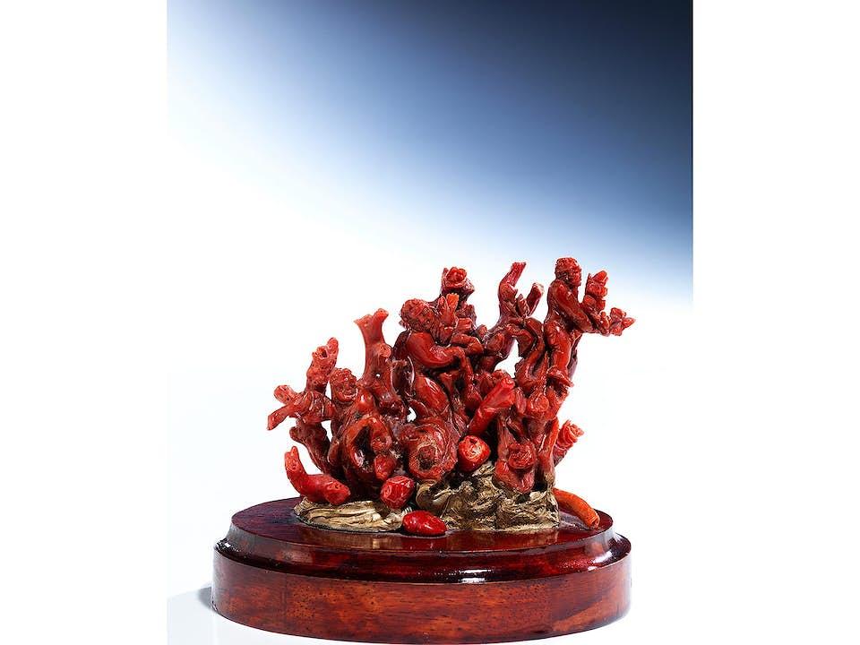 Kabinettstück in roter Koralle