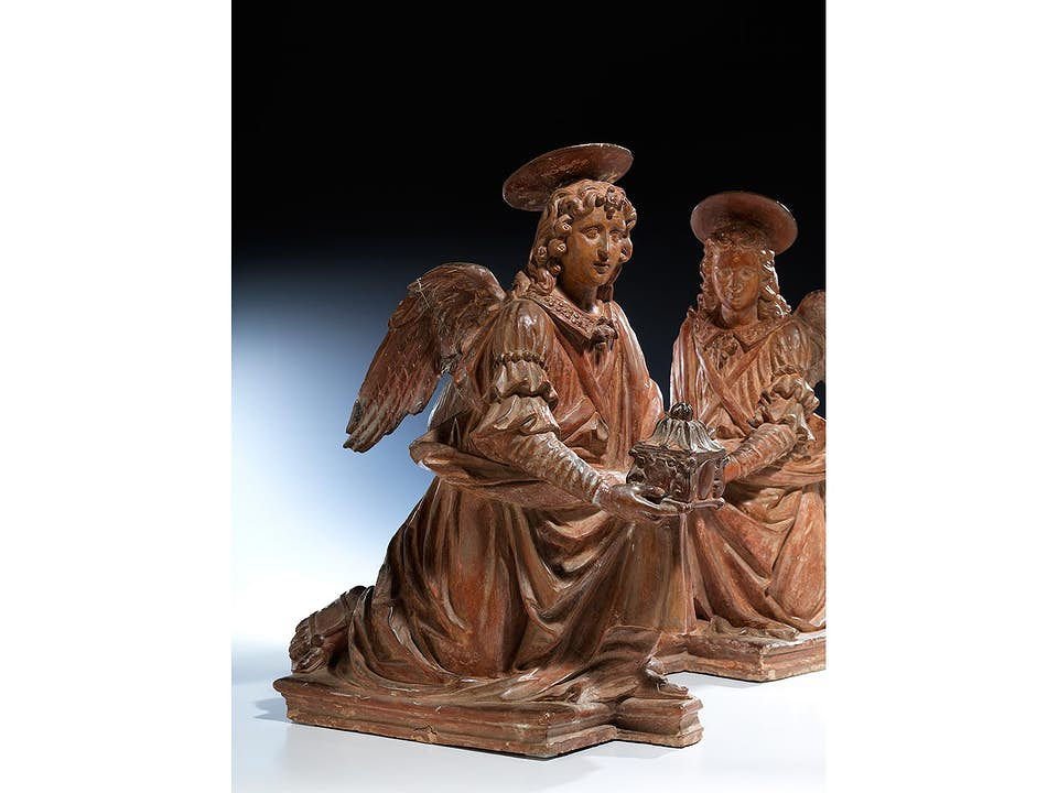 Paar Terrakotta-Engelsfiguren in Art des Benedetto Buglioni, 1459/60 – 1521