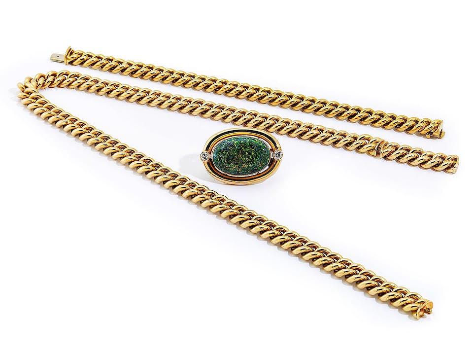 Gold-Opalset