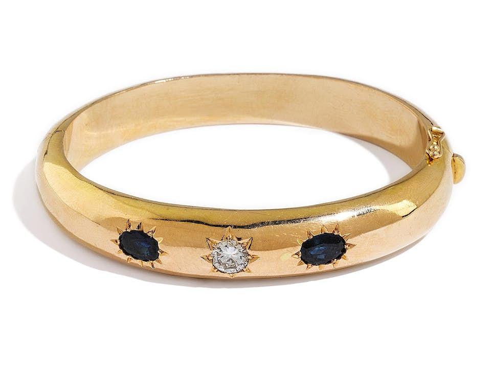 Gold-Saphir-Diamantarmreif