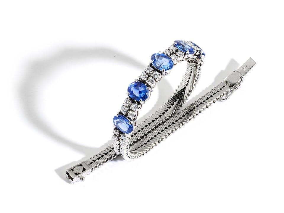 Saphir-Brillantarmband