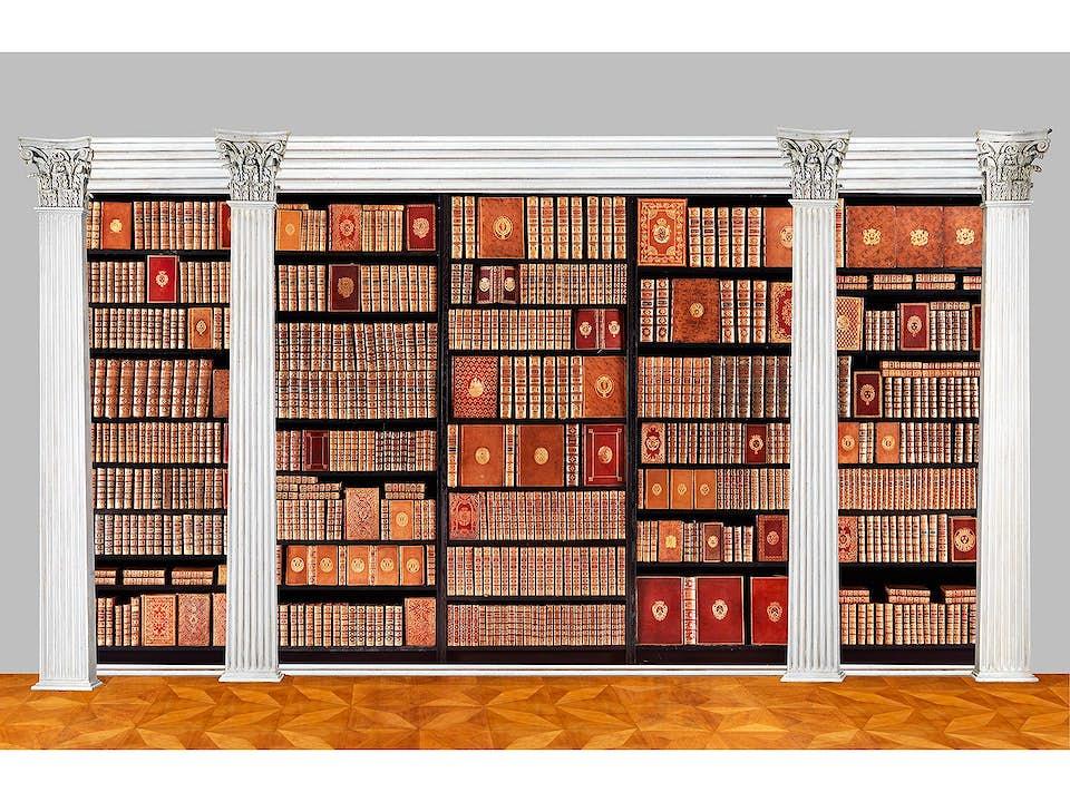 Dekorative Sammlung von 619 Büchern mit vergoldeten Wappen außergewöhnlicher Persönlichkeiten, 16. bis 18. Jahrhundert