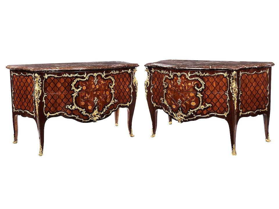 Paar Louis XV-Kommoden