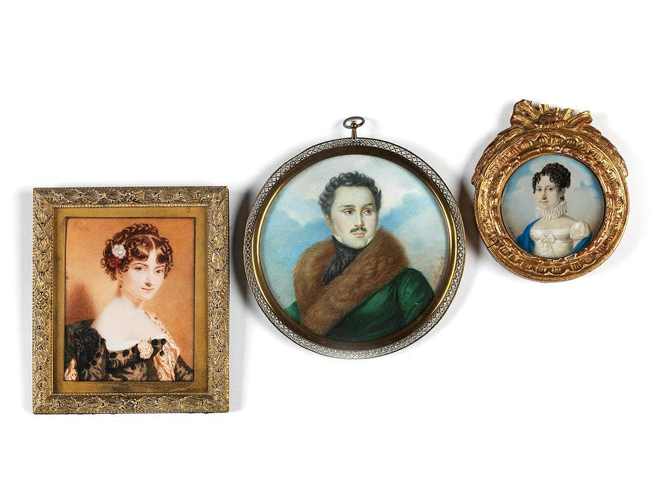 Konvolut dreier Miniaturen