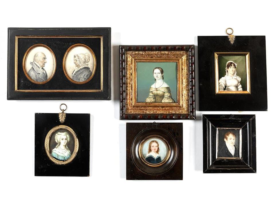 Konvolut von sechs Miniaturen