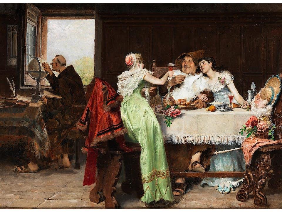 Tito Lessi, 1858 Florenz – 1917 ebenda