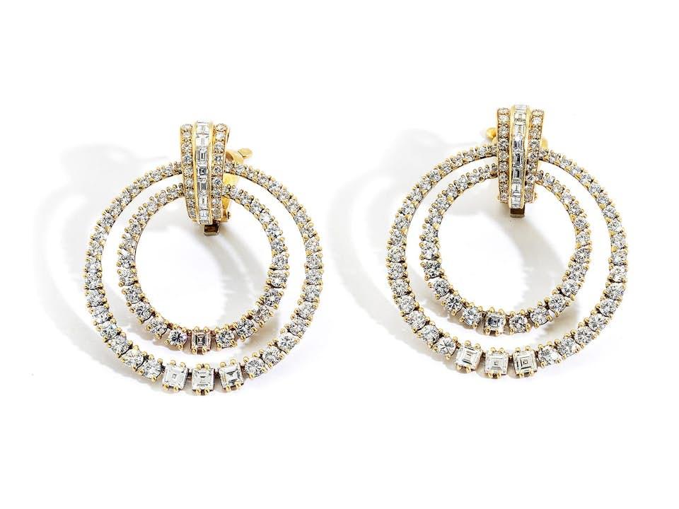 Double Hoop Diamantohrclipse von Cartier