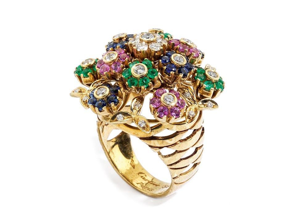 """Blütenring """"Tremblant"""" von Cartier"""
