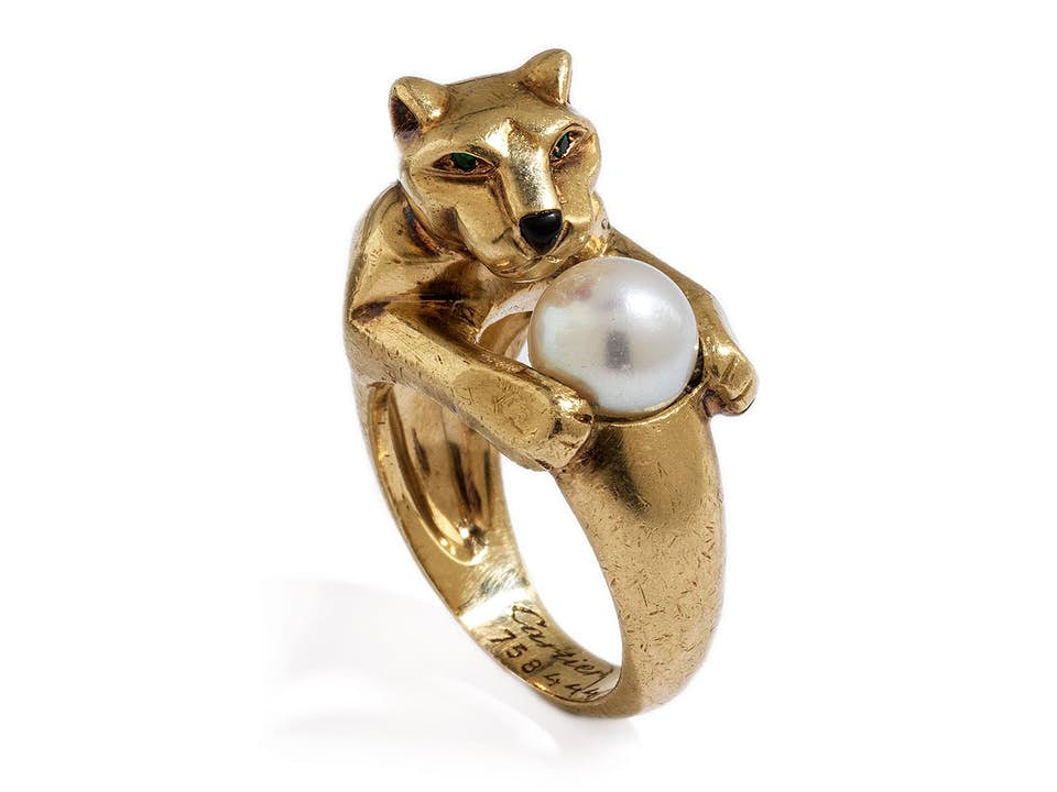 Panther-Perl-Goldring von Cartier