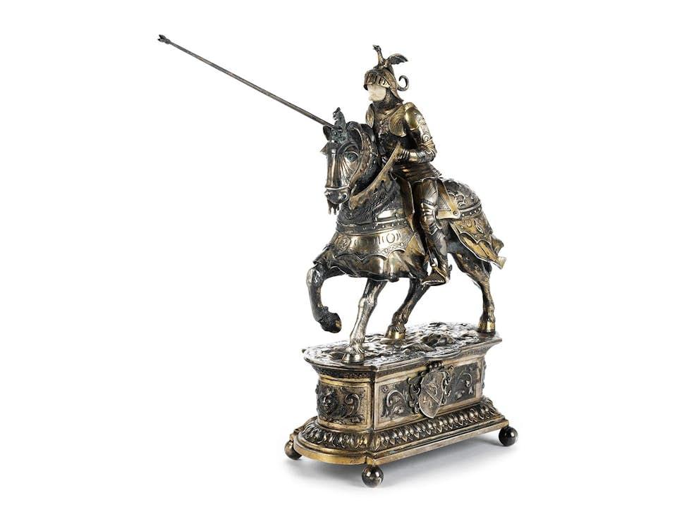 Silberfigur eines Ritters