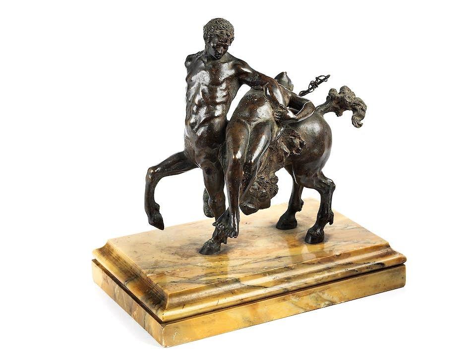 Raptus-Bronzegruppe
