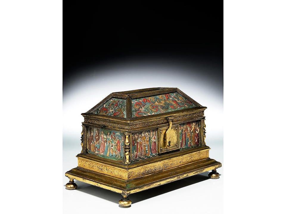 Renaissance-Schatulle auf die Heilige Adelheid von Burgund