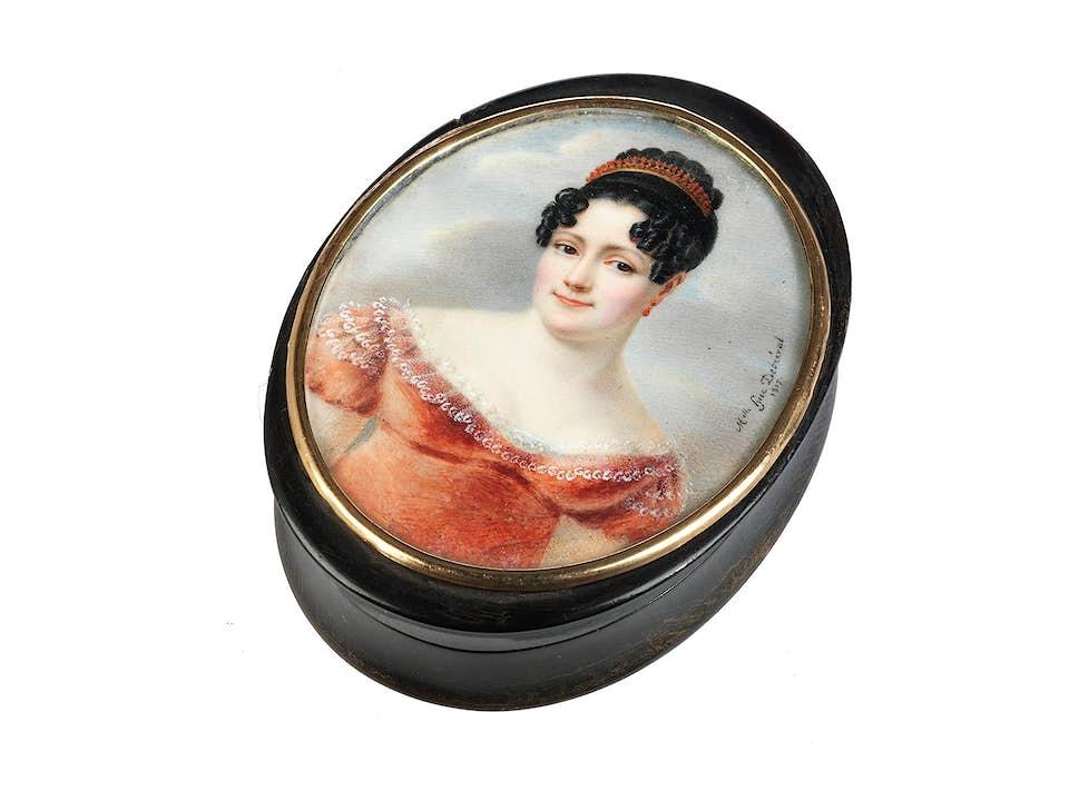 Tabatière mit Portrait einer Empire-Dame