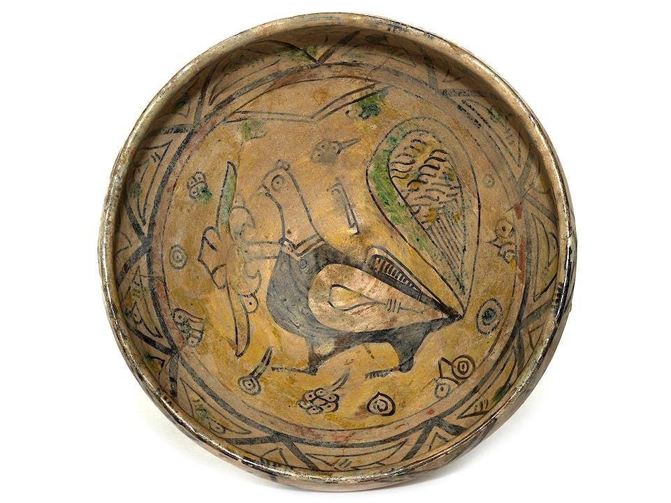 Persische Schale mit Vogeldekor