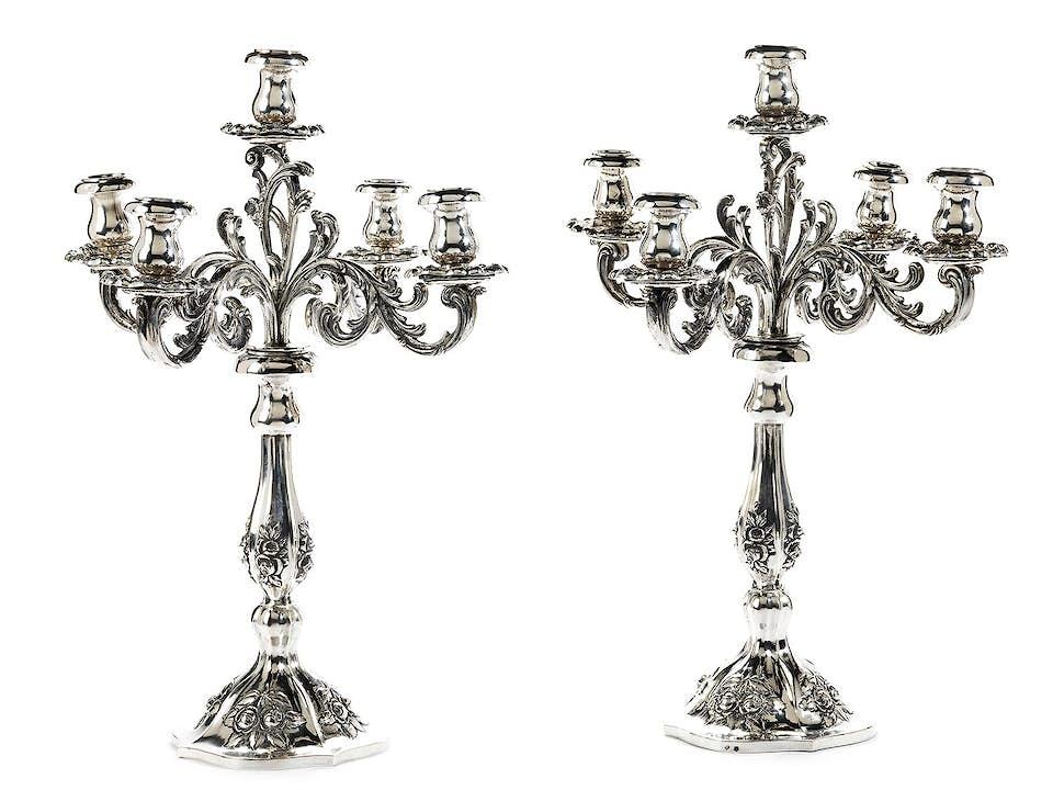 Paar Silbergirandolen