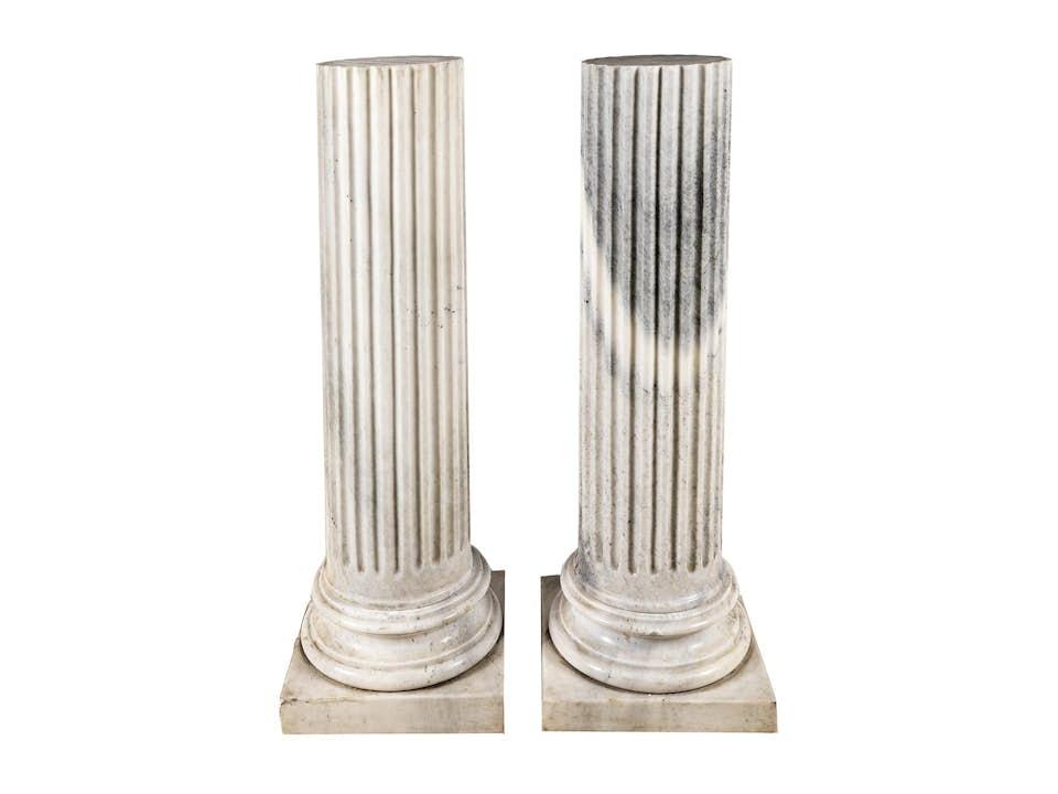 Paar Halbsäulen