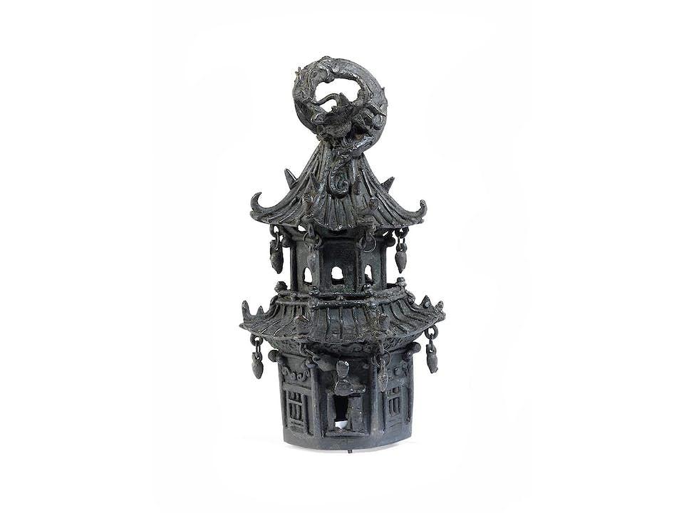 Bronze gegossener chinesischer Pagodenturm