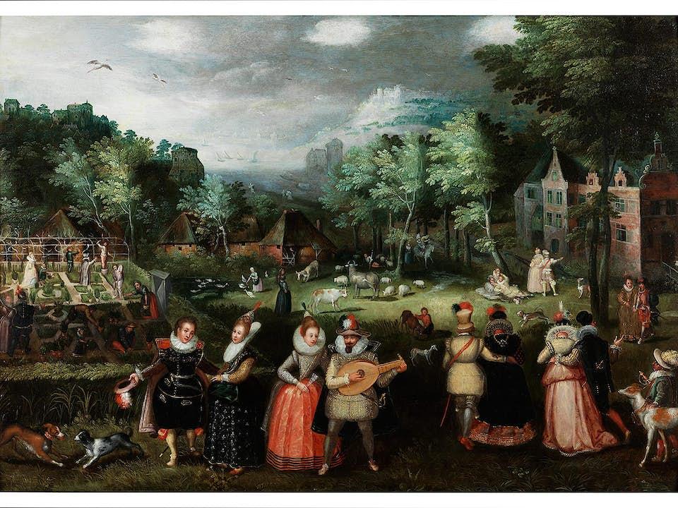 Lucas van Valckenborch, 1535 – 1597, zug.