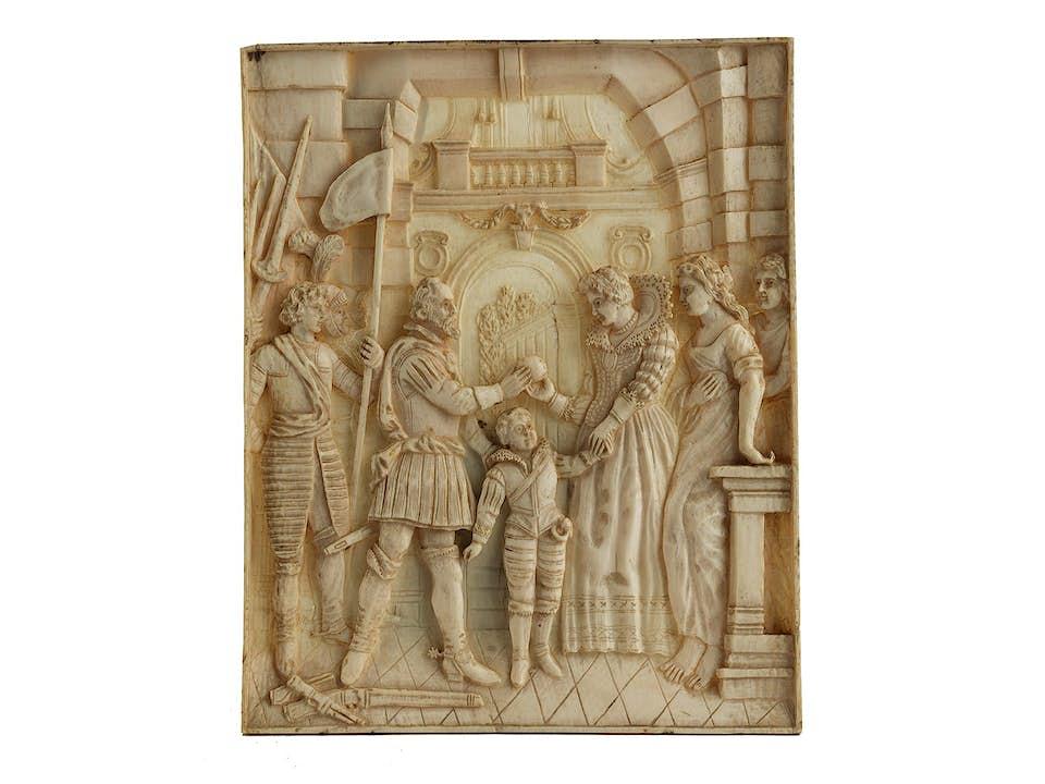 Elfenbeinrelief mit der Vermählung der Maria de' Medici